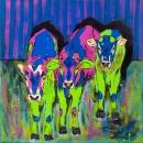 Buntvieh, Acryl auf Leinwand, 100 x 100 cm