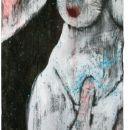 Personal Jesus, Acryl auf Holz, 150 x 48 cm