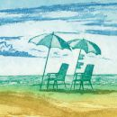 Stühle am Strand, Günther Band, artig'10