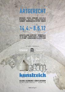 Ausstellung artgerecht / Eröffnung kunstreich Kempten (Plakat)