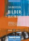 Eva Andersson: BILDER. Ausstellung vom 23.11.-18.12.2012 (Plakat)
