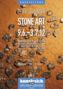 STONE ART / Peter Steininger: 9.6. - 3.7.12 (Plakat)