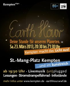 Earth Hour 2013 Kempten