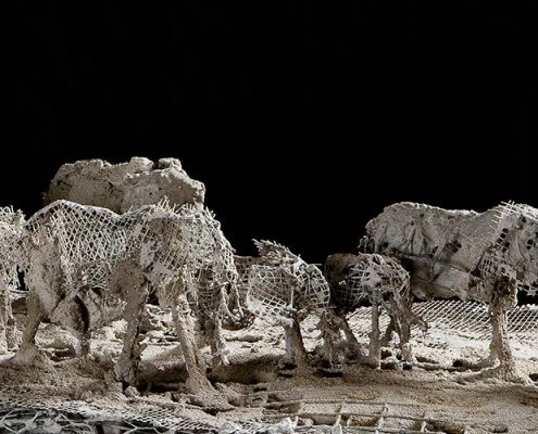 Elsa Nietmann: Elefantenherde