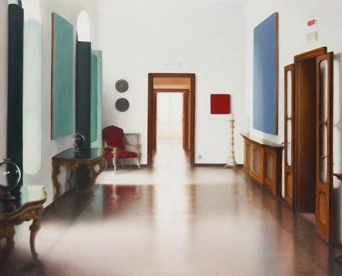 artig Extrapreis 2018: Claudia Hoffer, München: The P. Collection, 2012, Öl auf Leinwand, 110 x 150 cm - (c) Foto: Florian Wendel