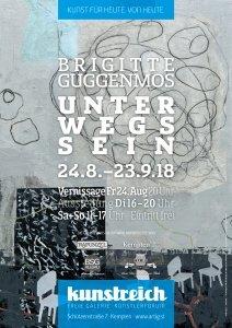 UNTERWEGSSEIN / Brigitte Guggenmos - Ausstellungsplakat 0818