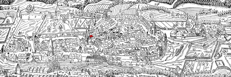 Holzschnitt von 1569 von Hanß Abelin und Hanß Roge