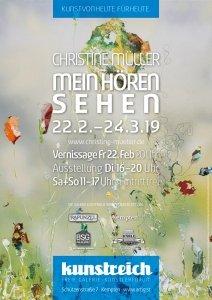 Plakat Kunstausstellung Christine Müller