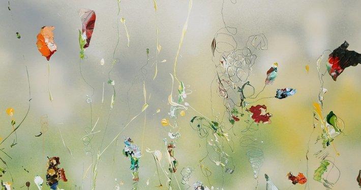 Christine Müller: Hommage a Ravel (Ausschnitt), 2016, 80 x 120 cm