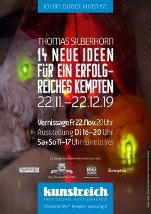 Ausstellungsplakat: 14 neue Ideen für ein erfolgreiches Kempten - Thomas Silberhorn