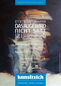 Ausstellungsplakat: Das Auge wird nicht satt - Emmeran Achter