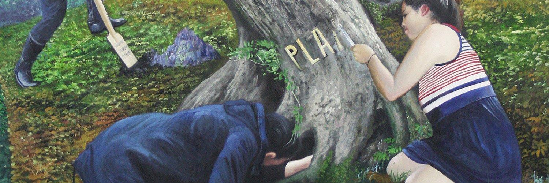 Paula Pelz: plane, 2012, 90 x 135 cm, Öl auf Leinwand auf Holz