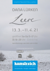 Ausstellungsplakat: Leere - Dana Lürken