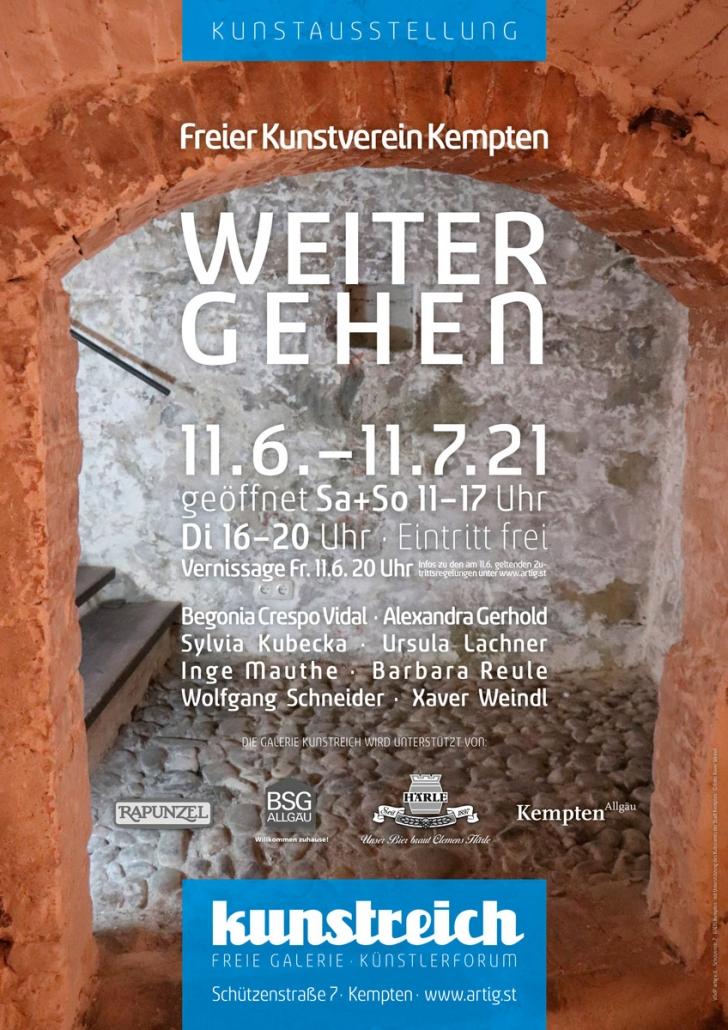 Freier Kunstverein Kempten - Weitergehen - Kunstausstellung