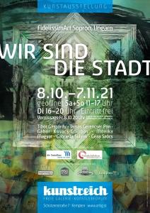 Plakat Ausstellung FidelissimArt Sopron Ungarn